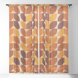 Fall Leaves Sheer Curtain