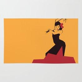 faceted flamenco Rug
