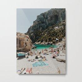 Sunbathers, Capri Metal Print