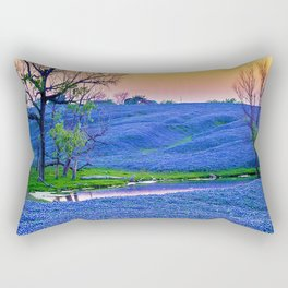 Bluebonnets Field Rectangular Pillow