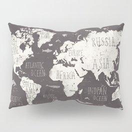 The World Map Pillow Sham