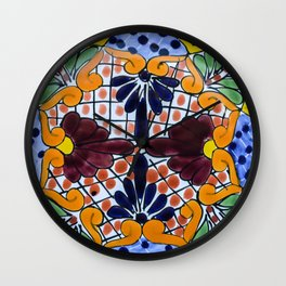 Talavera Two Wall Clock