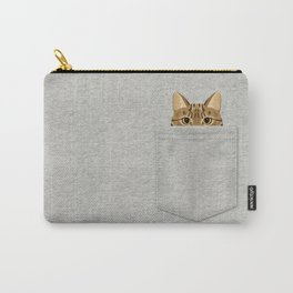 Pocket Tabby Cat Carry-All Pouch