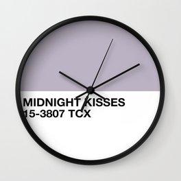 midnight kisses Wall Clock