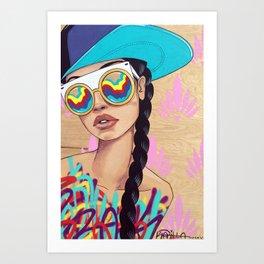 Disco Eyes Art Print
