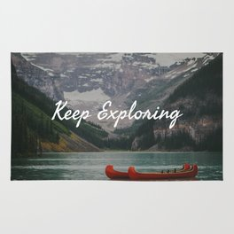 Keep Exploring with Canoes Rug