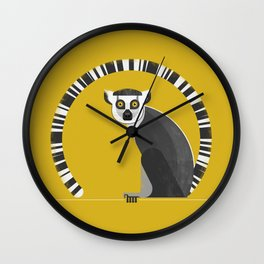 Ring Tailed Lemur Wall Clock