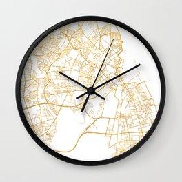 COPENHAGEN DENMARK CITY STREET MAP ART Wall Clock