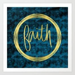Golden Faith Art Print