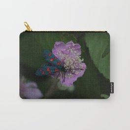 New forest burnet on purple flower Carry-All Pouch