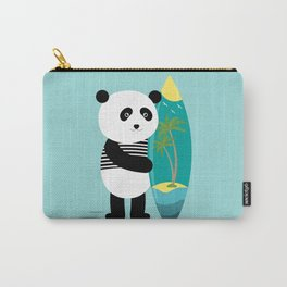 Surf along with the panda. Carry-All Pouch