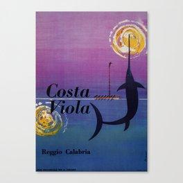 Costa Viola Reggio Calabria Canvas Print