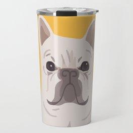 Frenchie on Yellow Travel Mug