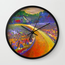 The Road to Chateau Chantal Wall Clock