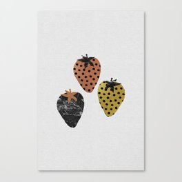 Strawberries Art Print Canvas Print