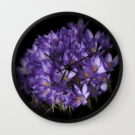 the colors of spring - lilac crocus Wall Clock