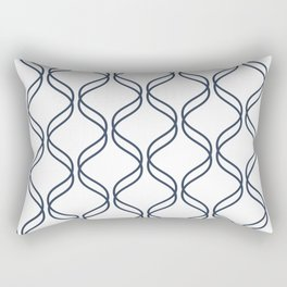 Double Helix - Navy #535 Rectangular Pillow