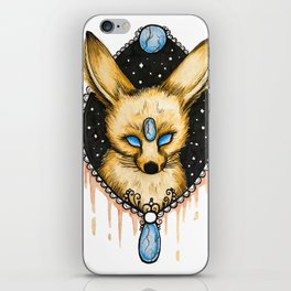 Watercolor Fennec Fox iPhone Skin