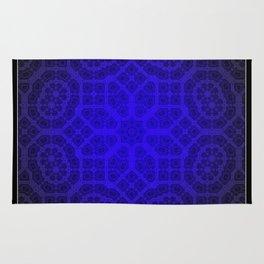 Blue Octogon Star Rug