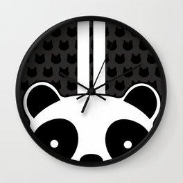 Racing Panda Wall Clock
