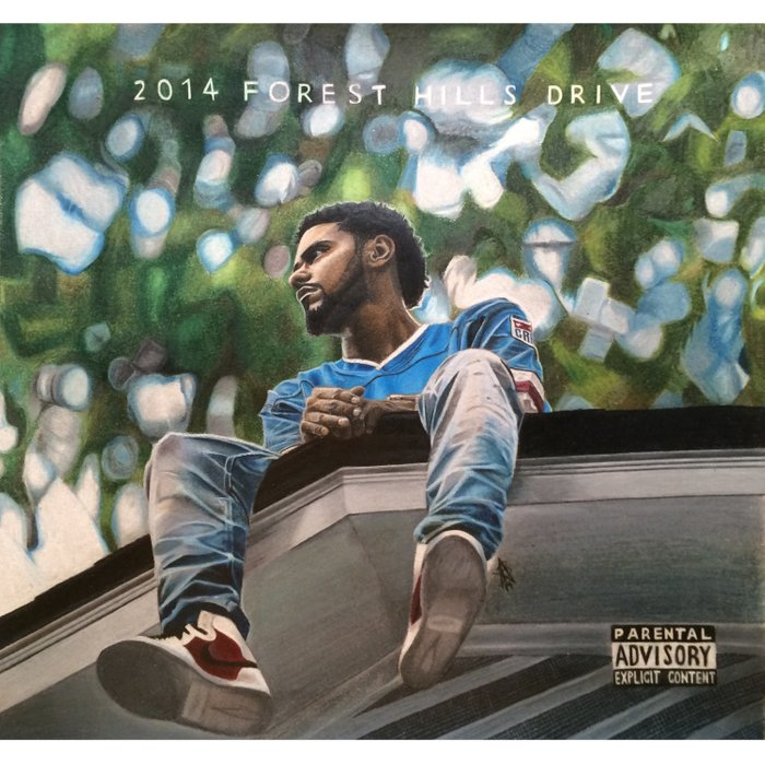 J.Cole 2014 Forest Hills Drive Drawing Duvet Cover