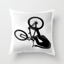 Flying Bike Throw Pillow