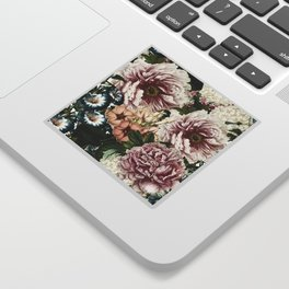 Vintage Peony and Ipomea Pattern - Smelling Dreams Sticker