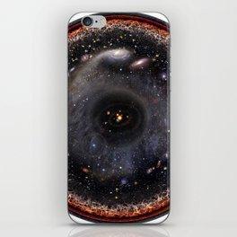 Observable universe logarithmic illustration iPhone Skin