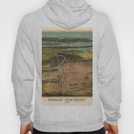 Map Of Newark 1916 Hoody