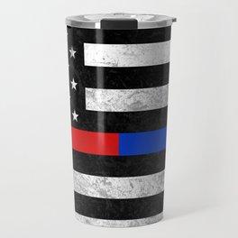 Fire Police American Flag Travel Mug