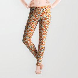 Watercolor tangerines Leggings