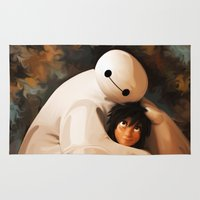 baymax Area & Throw Rugs featuring Baymax Love by Kesen