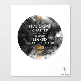 Charter Poem Canvas Print