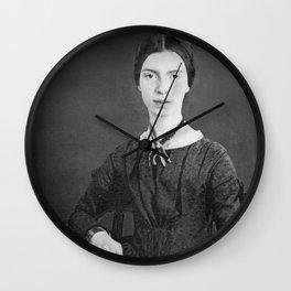 Emily Dickinson Portrait Wall Clock