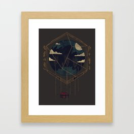 The Dark Woods Framed Art Print