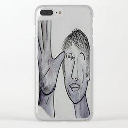 ASL Father in Denim Colors Clear iPhone Case