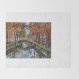 Bridge in Delft Throw Blanket