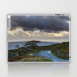 Tree beside remote mountain road at sunset. 'The struggle' to Kirkstone Pass. Lake District, UK. Laptop & iPad Skin