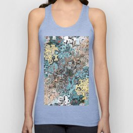Colorful Abstract Chaos Unisex Tank Top