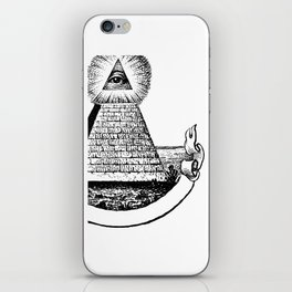 the Eye of Providence from the Great seal of America  All seeing Eye us dollar money cash Pyramid iPhone Skin