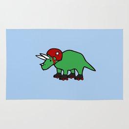 Roller Derby Triceratops Rug