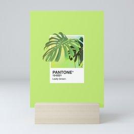 PANTONE SERIES – LEAFY GREEN Mini Art Print
