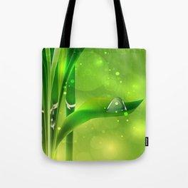 Bambus mit Wassertropfen Tote Bag