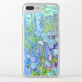 Water Lilies monet : Nympheas Clear iPhone Case