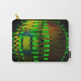 Yellow Layered Star in Green Flames Carry-All Pouch