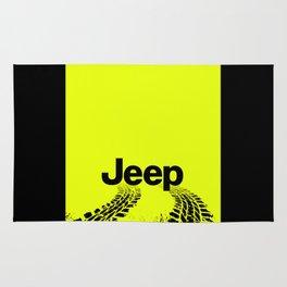 Jeep 'Tire-tracks' Hyper Green Rug
