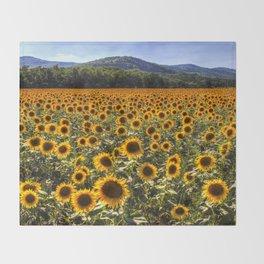 Sunflower Fields Of Dreams Throw Blanket