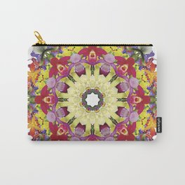 Abundantly colorful orchid mandala 1 Carry-All Pouch