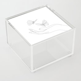 Butterflies on the Palm of the Hand Acrylic Box