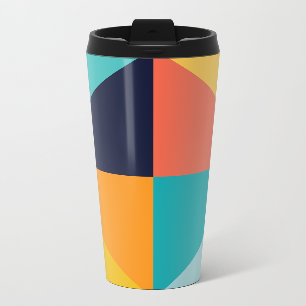Colorful Vibrant Triangles I Travel Mug TRM9021578